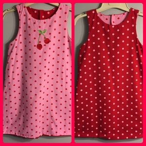 Other - 🌼2 for $10🌼Reversible red & pink polka dot dress